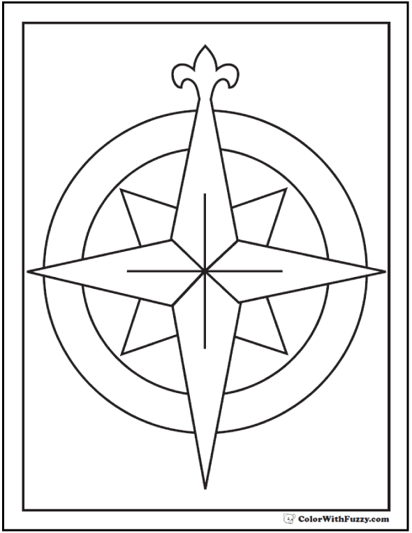 compass coloring pages - photo#16