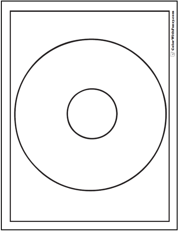 Concentric Circles Coloring Sheet
