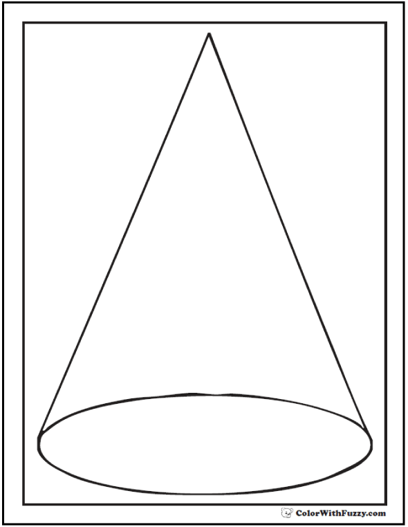 See Through Transparent Cone Coloring Sheet