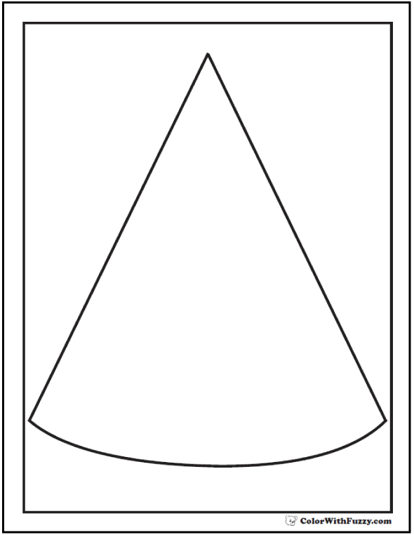 PDF Cone Outline To Color