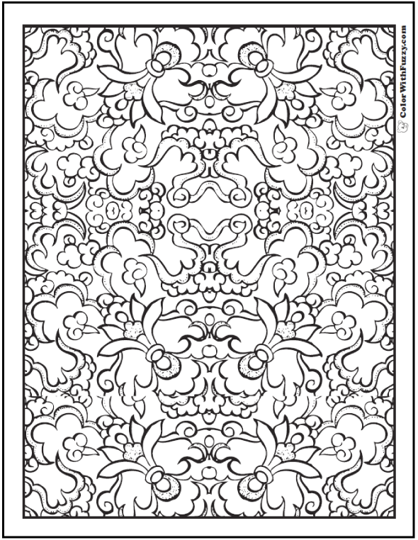 Cool Floral Pattern Coloring Sheets