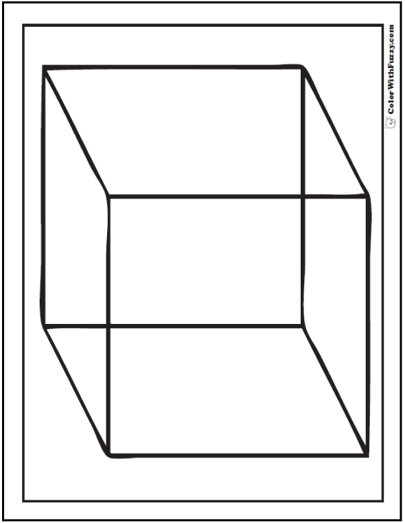 Large Cube Coloring Page