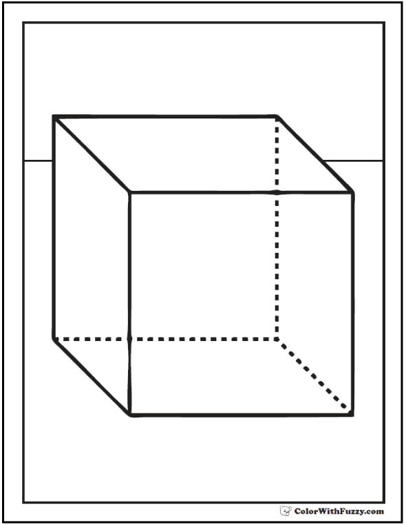 Square Cube To Color