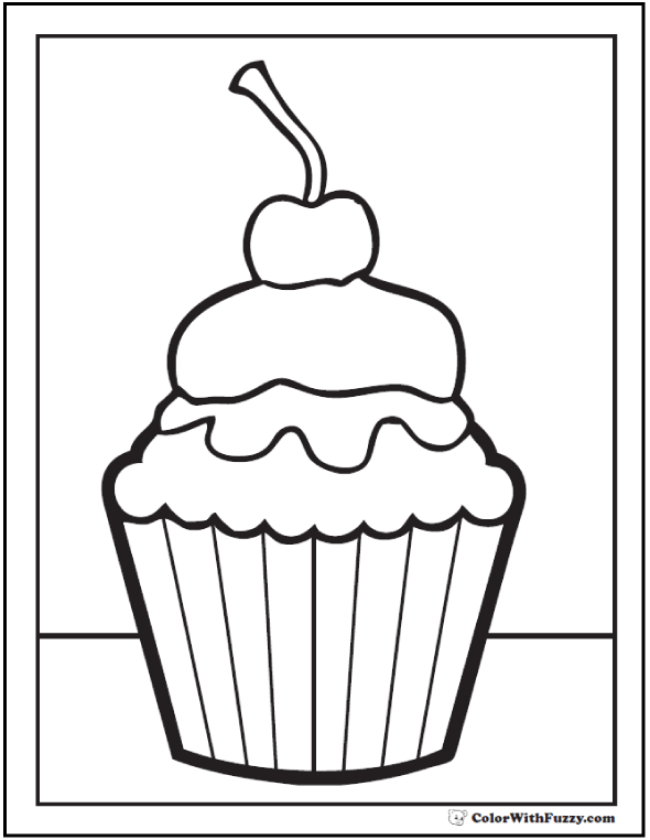 40 cupcake coloring pages customize pdf printables - Cupcakes Coloring Pages