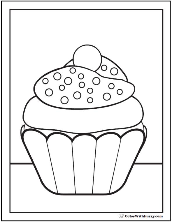 Nonpareil Cupcake Sprinkles PDF Coloring