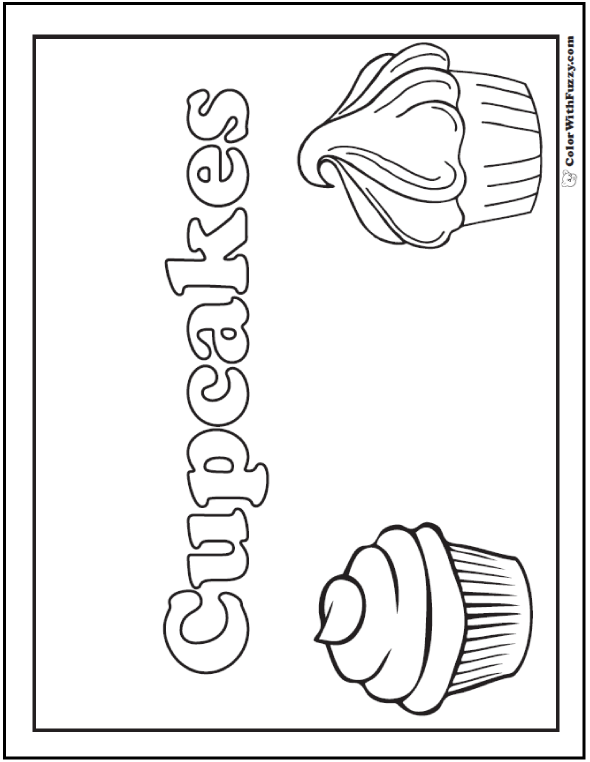 Printable Cupcakes Banner