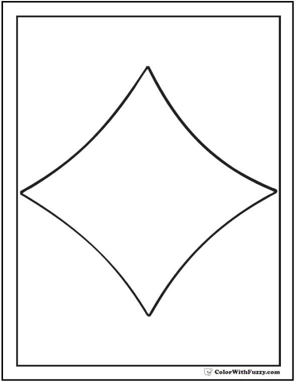 Curvy Diamond Shape Coloring Sheet