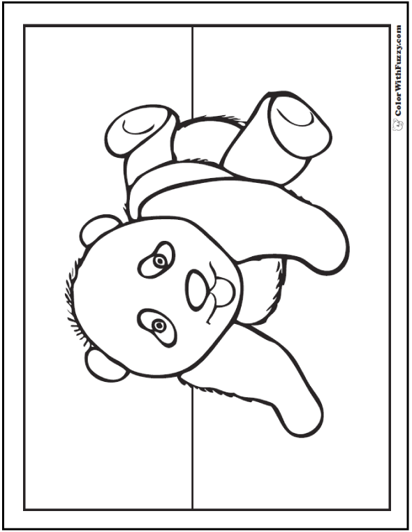 Cute Baby Panda For Kids To Color