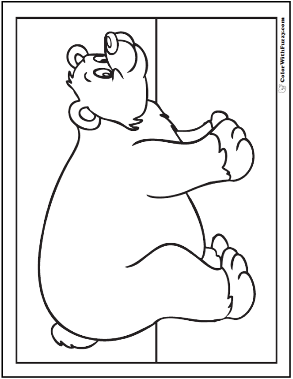 Bear Coloring Pages Grizzlies Koalas Pandas Polar And Teddy Brown Coloring Page