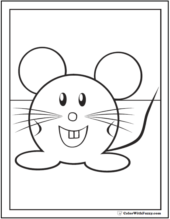 Mouse Coloring Pages To Print And