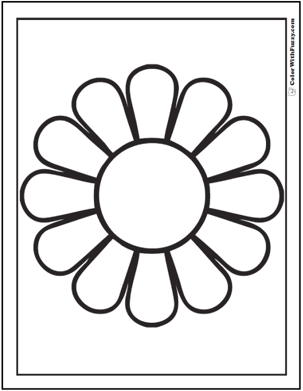 Simple Daisy Coloring Page