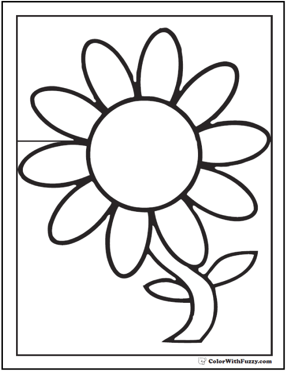 Charming Preschool Daisy Coloring Page
