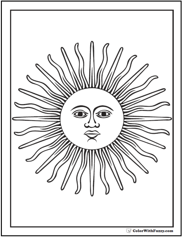 Day Star Coloring Page