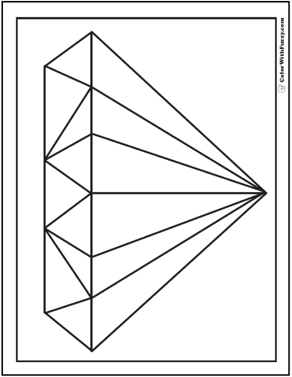 Faceted Diamond Coloring Sheet