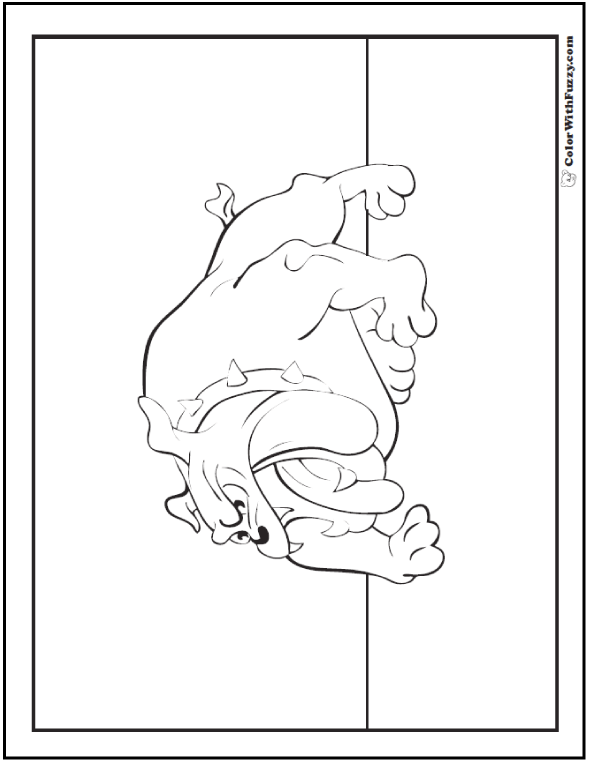 English bulldog coloring page.