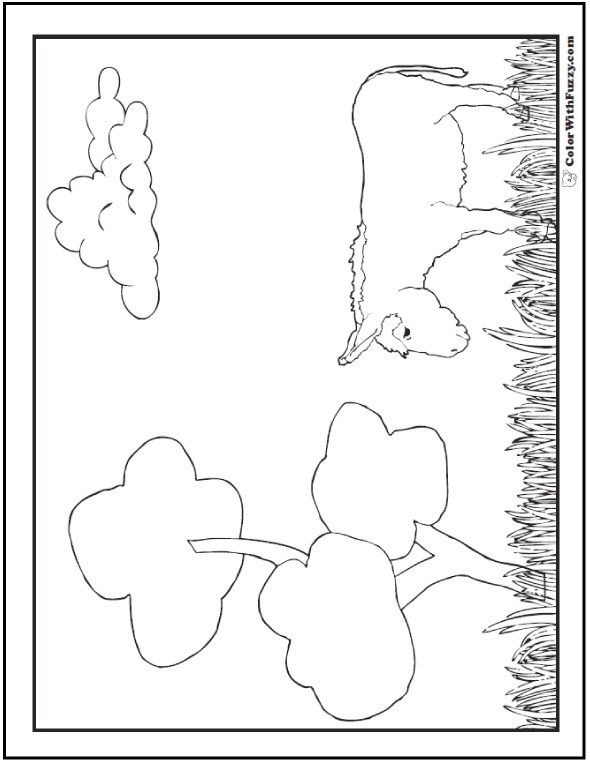 Grazing donkey coloring pages.
