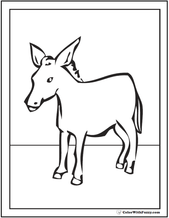10 Donkey Coloring Page Customize Bible And Farm Themes