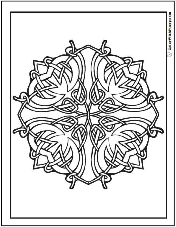 ColorWithFuzzy.com Celtic Designs:  Celtic Dublin Coloring Page