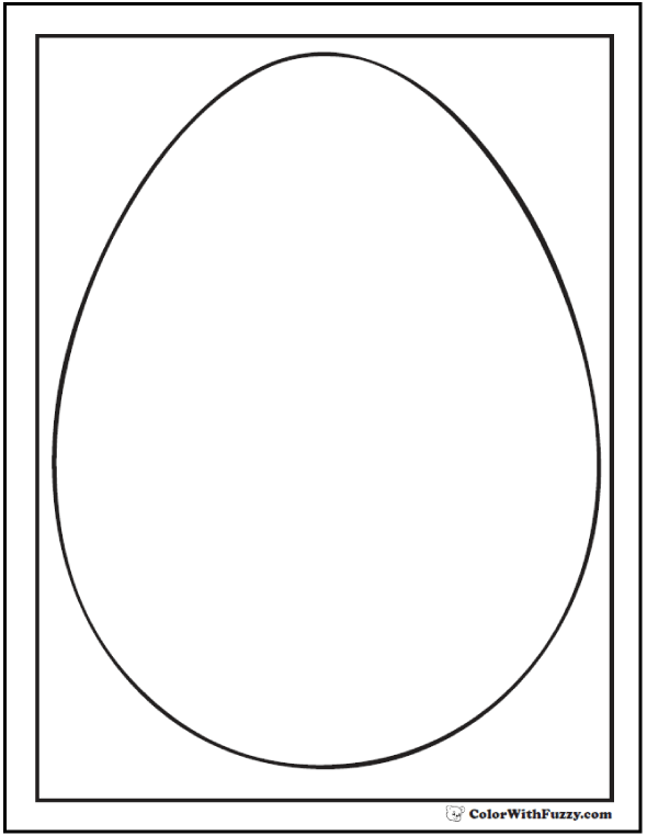 Egg Shape Coloring Sheet