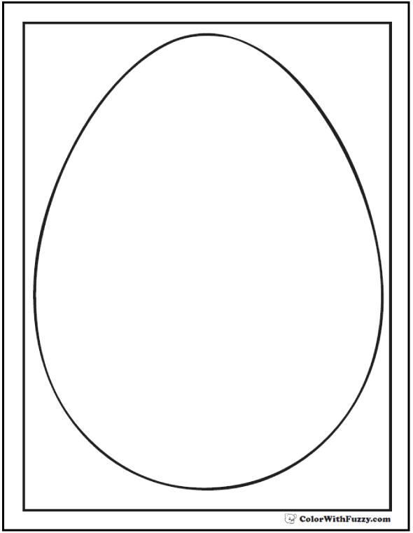Egg Shape Coloring Sheet