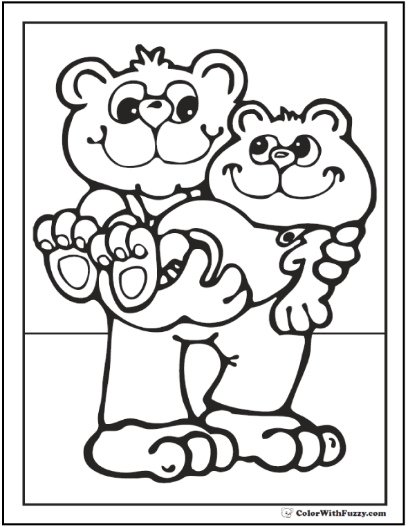 Father and son coloring pages.  #FathersDayColoringPages and #KidsColoringPages at ColorWithFuzzy.com