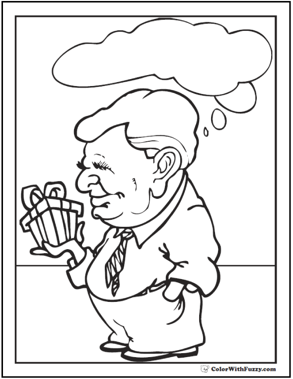 Father's Day coloring for Grandpa!  #FathersDayColoringPages and #KidsColoringPages at ColorWithFuzzy.com