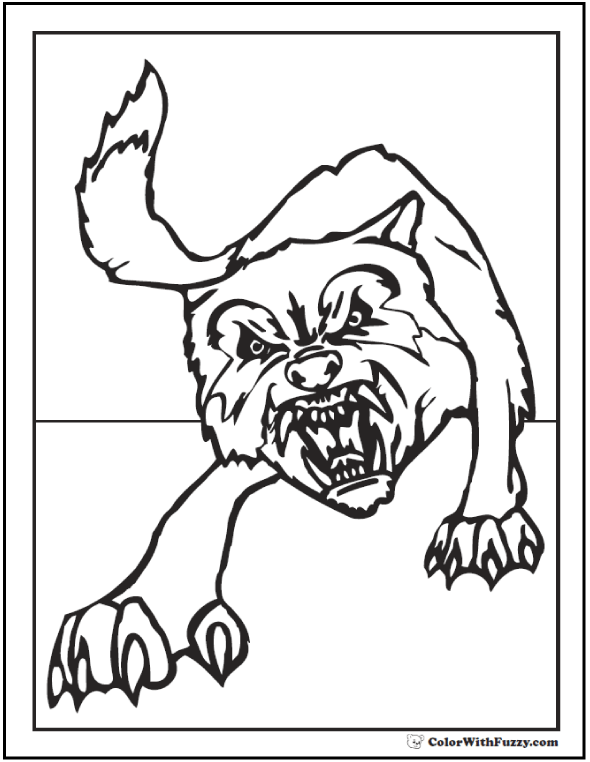 Wolf Coloring Pages Print And