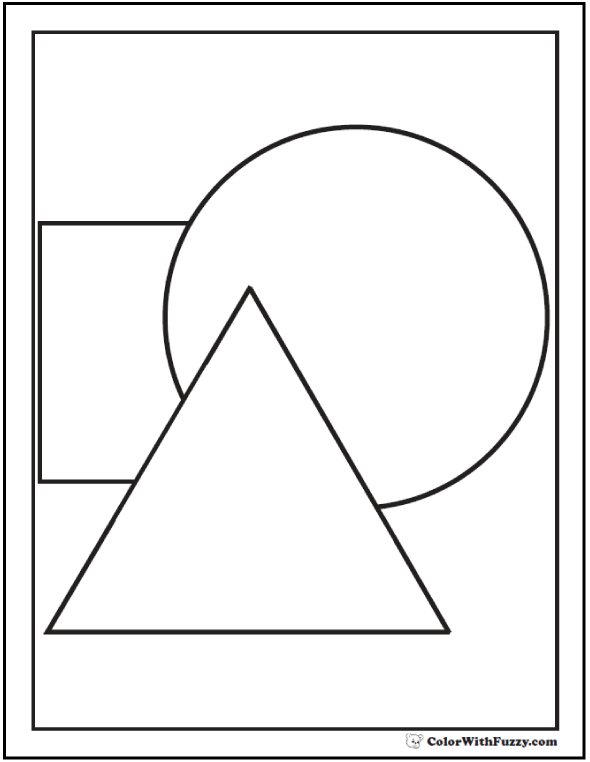 Triangle Circle And Square Shapes To Color