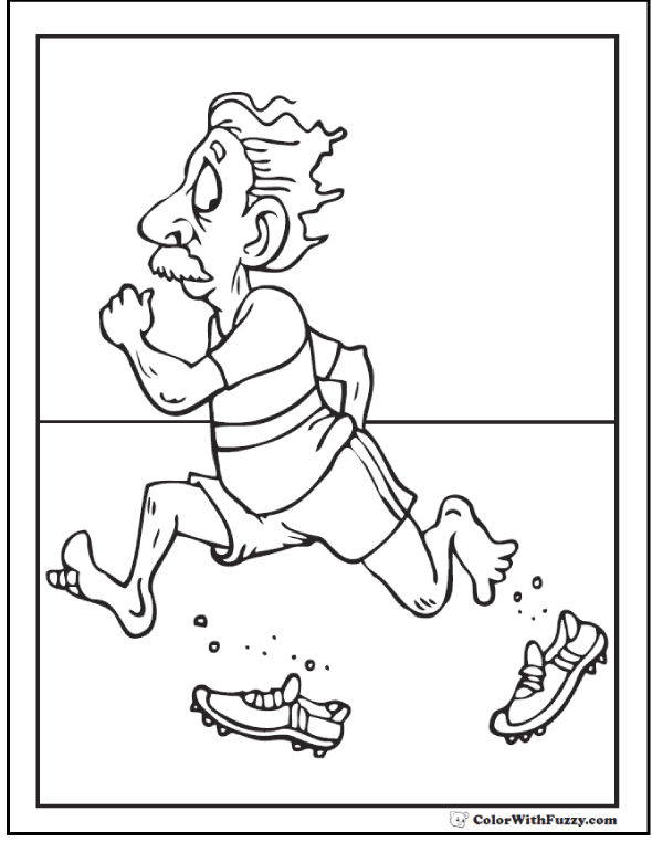 Crazy Fast Fitness Coloring Sheet