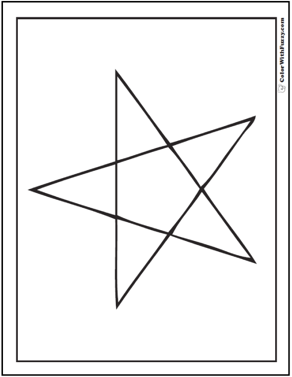 Five Point Star Coloring Sheet