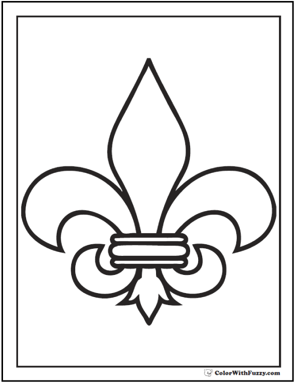fleur de lys coloring pages - photo#7