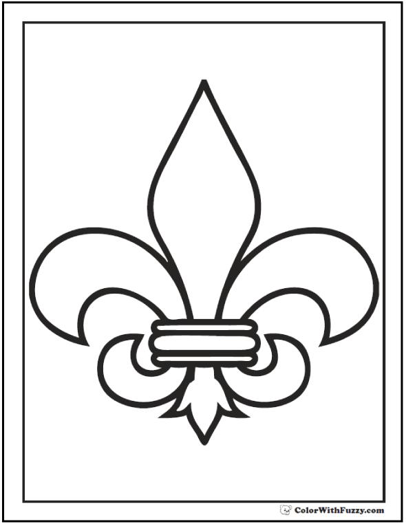 Fleur De Lys Pattern Coloring Page