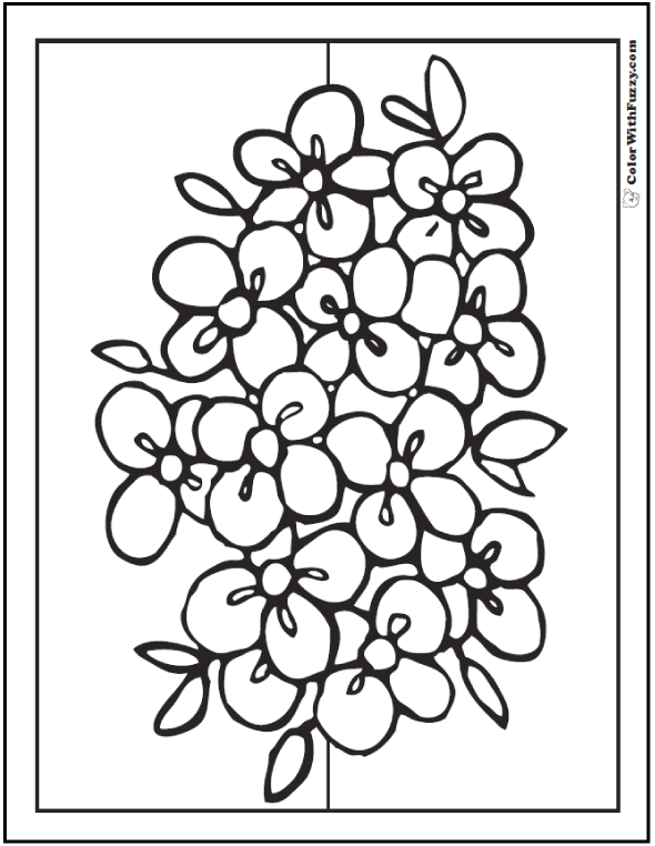 102 flower coloring pages customize and print pdf for Coloring pages for kids flowers