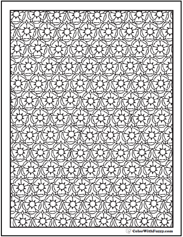 Difficult Flower Coloring Pages For Adults