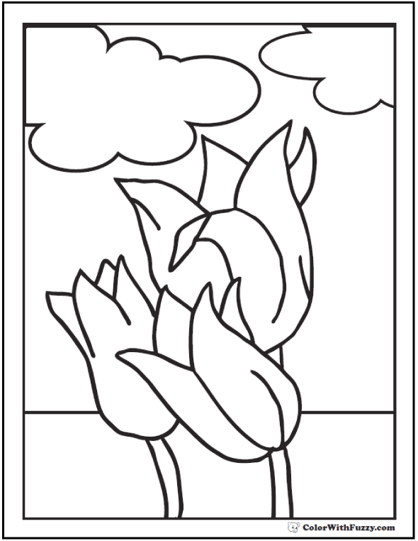 Flower Coloring Pages Spring
