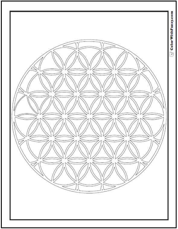 Intricate Flower of Life Coloring Pages