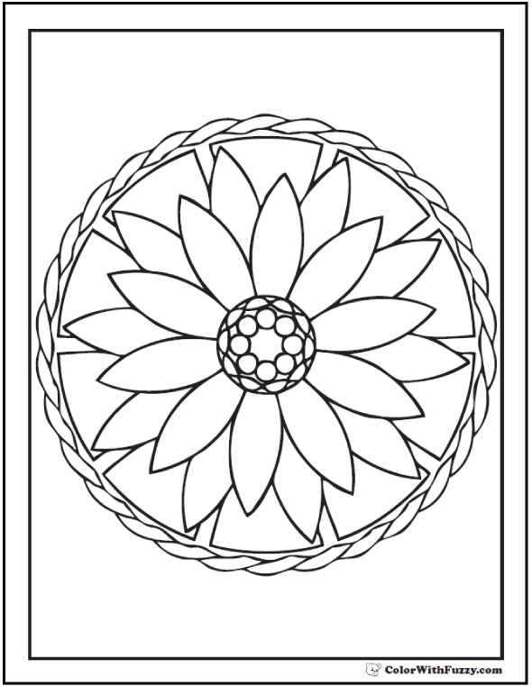 Flower Shape Coloring Pages