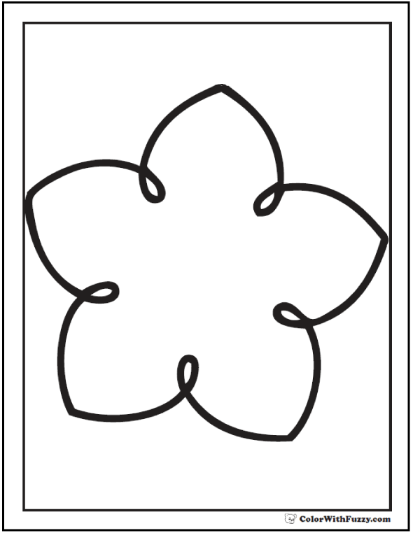 Flower Shape Coloring Printable