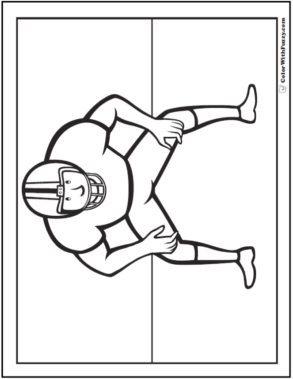 Football Player Huddle Coloring Pages To Print