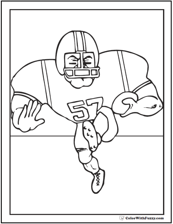College Football Coloring Pictures