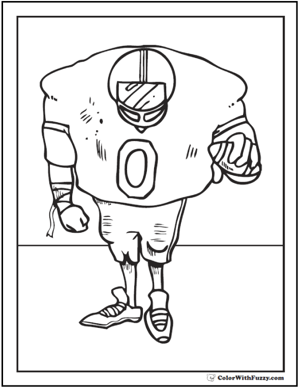 Defensive Football Coloring Sheet