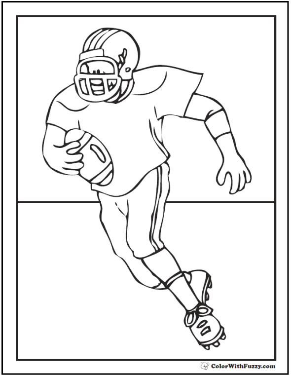 Football coloring pages customize and print pdf for Panthers football coloring pages