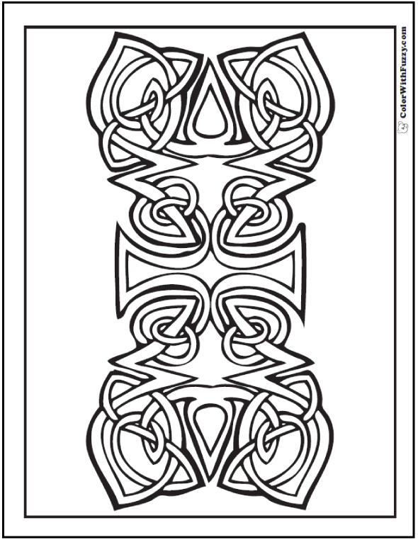 ColorWithFuzzy.com Celtic Designs:  Forever Celtic Coloring Picture
