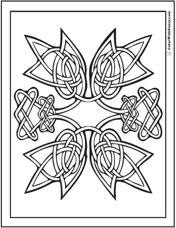 ColorWithFuzzy.com Celtic Designs:  Free Celtic Designs Coloring Printable