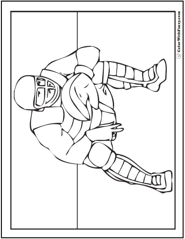 Catcher Free Baseball Coloring Pages