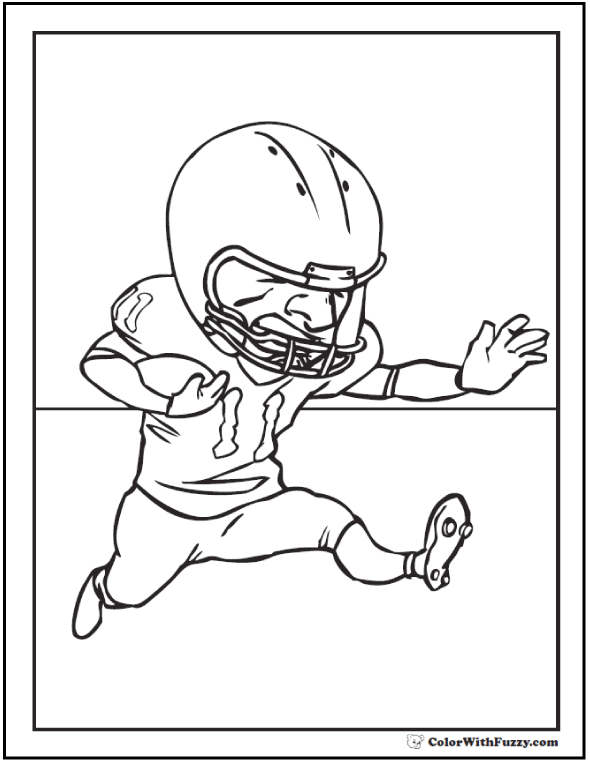 Offensive Forward Free Football Coloring Page