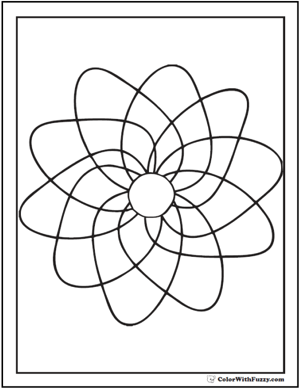 Free Printable Geometric Coloring Pages: Pinwheel To Spin.