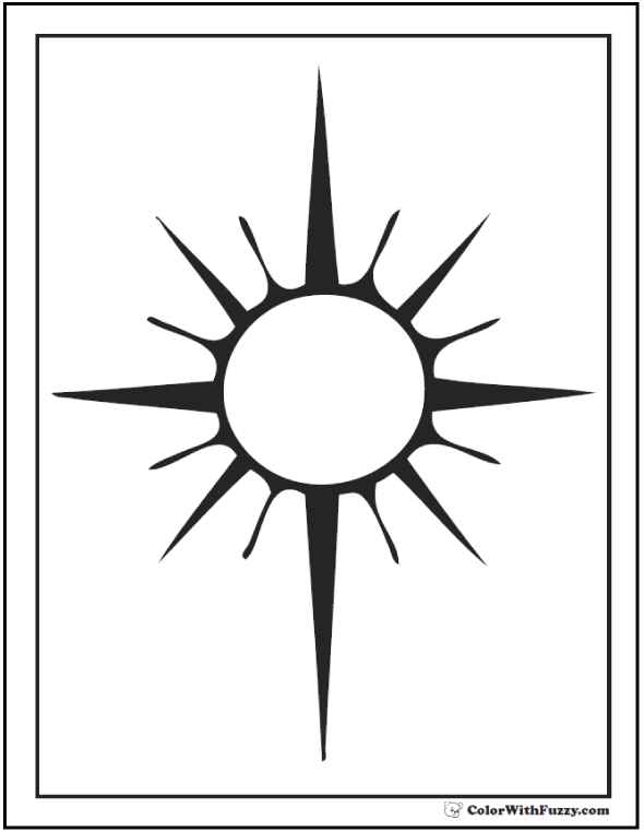Free Printable Sun Coloring Sheet