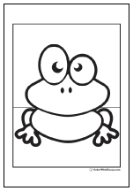 Big eyed frog coloring page.