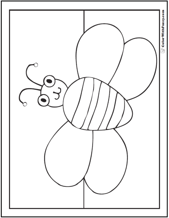 Fun been coloring page.